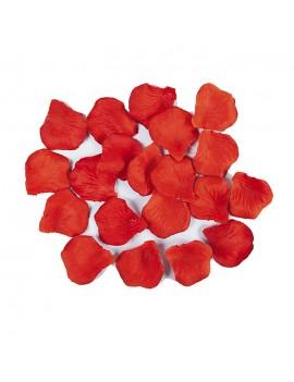 Petali Colore Rosso Mandarino in Velluto