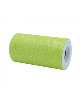 Tulle Glitter Verde Acido...