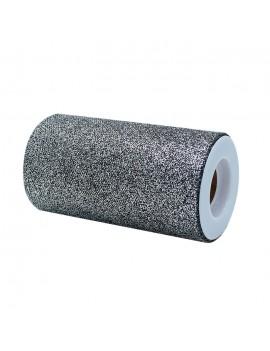 Tulle Glitter Silver Prestige 12,5 x 25 mt