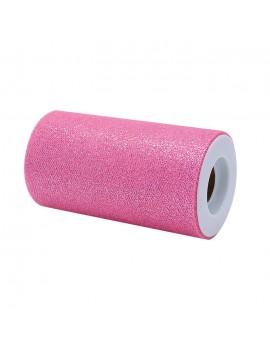 Tulle Glitter Rosa Caldo...
