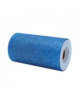Tulle Glitter Blu 12,5 x 25 mt