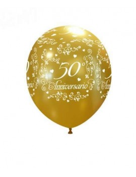 Palloncini in Lattice 50° Anniversario Oro (10 pz)