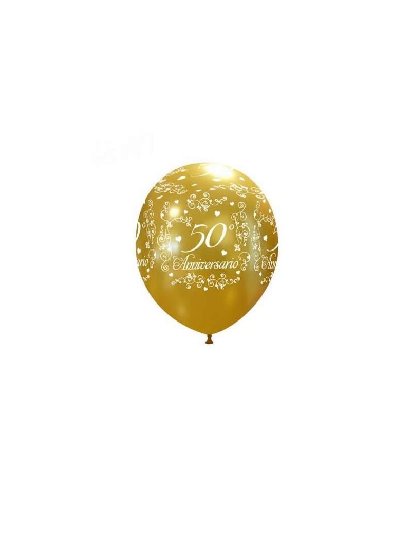 Palloncini 50° Anniversario Oro