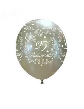 Palloncini 25° Anniversario Argento