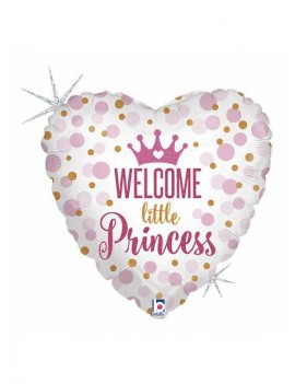"Palloncino Cuore 18"" Welcome Little Princess"