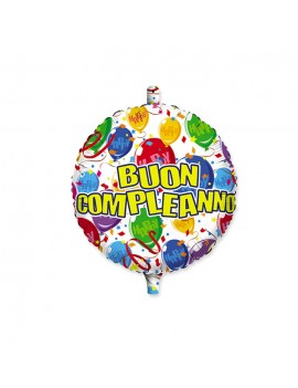 """Palloncino Mylar 18"""" Buon Compleanno Happy Balloons"""