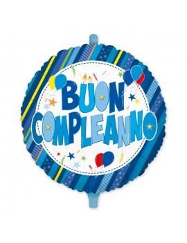 """Palloncino Mylar 18"""" Buon Compleanno Celeste Palloncini"""