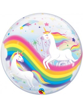 Palloncino Bubble Unicorno
