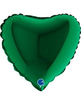 """Palloncino Mini Cuore Verde 9"""""""