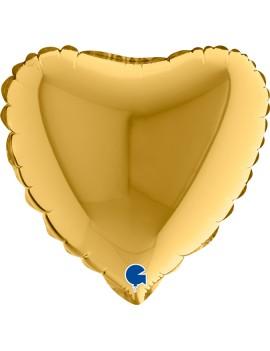 """Palloncino Mini Cuore Oro 9"""""""