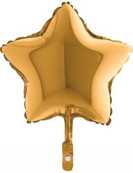 """Palloncino Mini Stella Oro 9"""""""