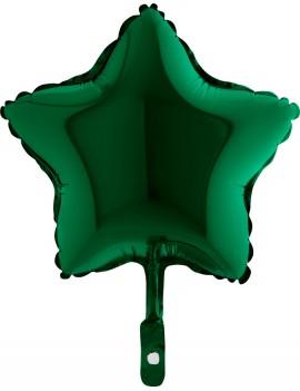 """Palloncino Mini Stella Verde 9"""""""