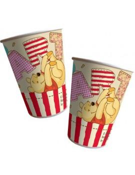 Bicchieri di Carta Winnie The Pooh Alphabet 200 cc (8pz)