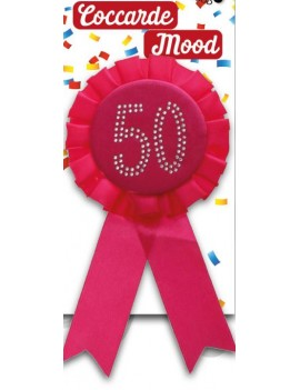 Spilla 50 anni Fucsia