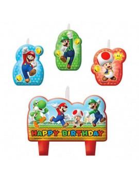 Candeline Super Mario (4 pz)