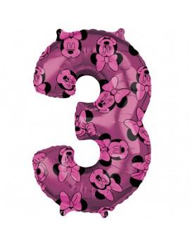 Palloncino Numero 3 Minnie...