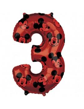 Palloncino Numero 3 Mickey...