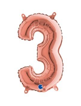 Palloncino Numero 3 Rosa...