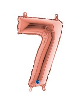 Palloncino Numero 7 Rosa...