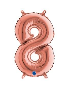 Palloncino Numero 8 Rosa...