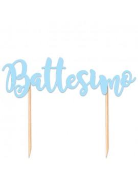 Cake Topper Battesimo Celeste
