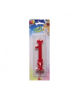 Candelina Maxi Rossa Numero 1