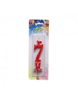 Candelina Maxi Rossa Numero 7