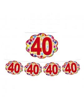 Festone Nuvoletta Numero 40