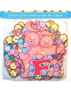 """Festone """"Felice Anniversario"""" Orsetti"""
