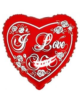 """Palloncino Cuore I Love You """"18"""