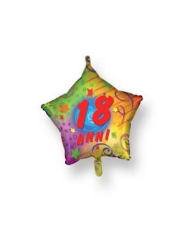 Palloncino Stella 18 anni Multicolor