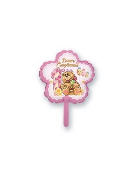 Palloncino Mini 1 Compleanno Rosa