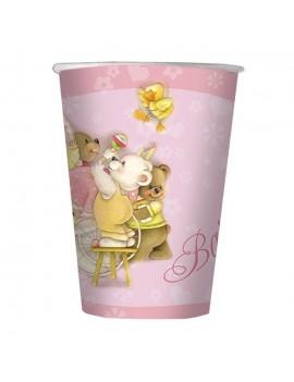 Bicchieri Battesimo Rosa (10 pz)