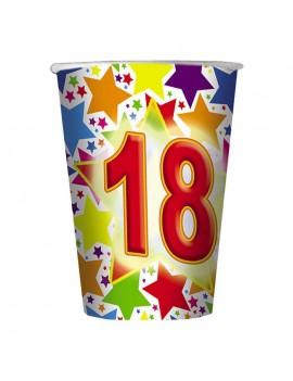 Bicchieri Compleanno 18 Anni (10 pz)