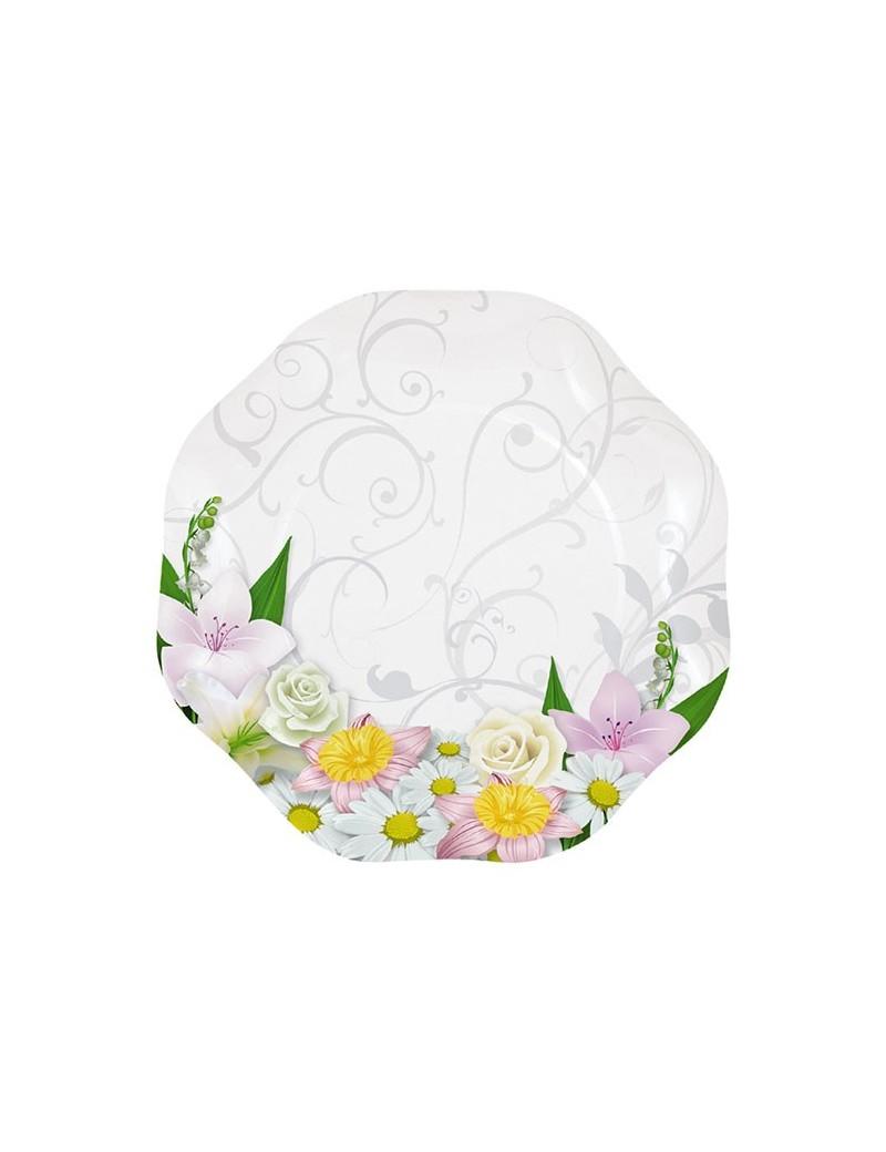 Piatti Ø 18 cm Bouquet Floreale (10 pz)