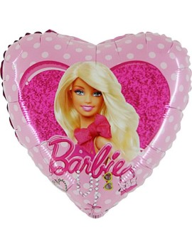 Palloncino Cuore Barbie Pois