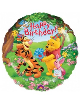 Palloncino Winnie The Pooh Happy Birthday