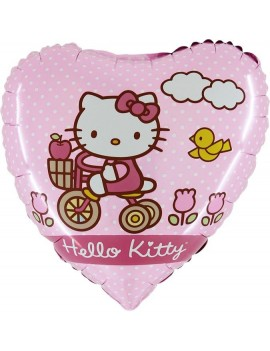 Palloncino Cuore Hello Kitty Bike