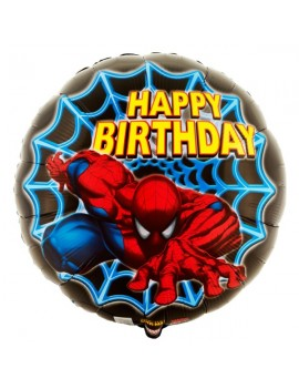 Palloncino Spiderman Happy Birthday