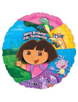 Palloncino Dora Happy Birthday
