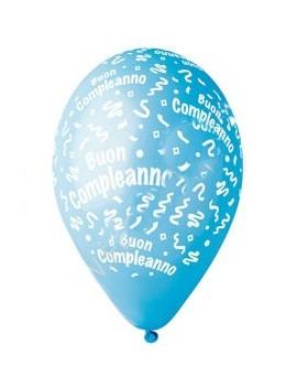 Palloncini Buon Compleanno Celesti