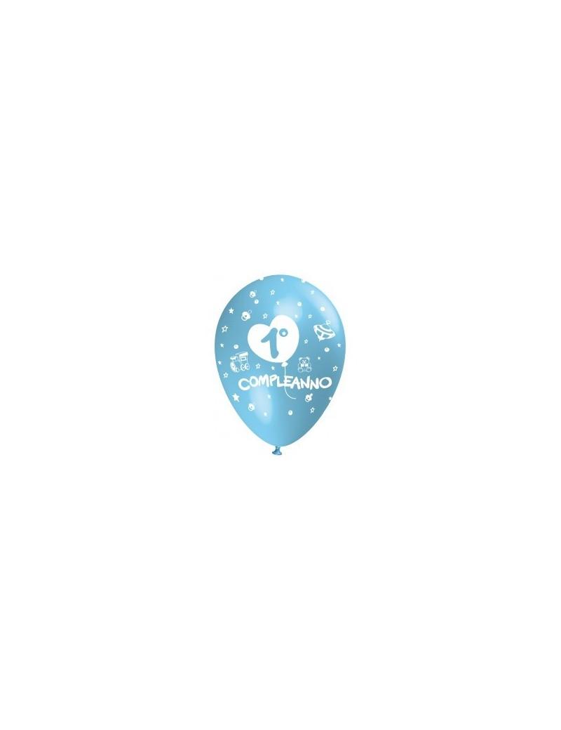Palloncini 1° Compleanno Celesti