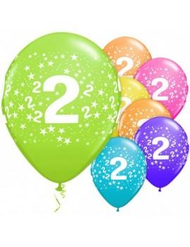 Palloncini Numero 2 Multicolor