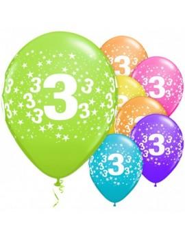 Palloncini Numero 3 Multicolor