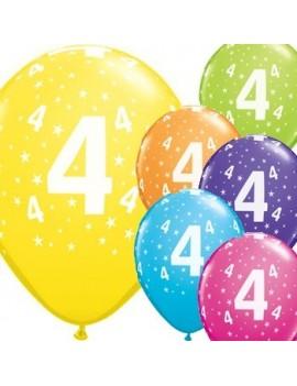 Palloncini Numero 4 Multicolor