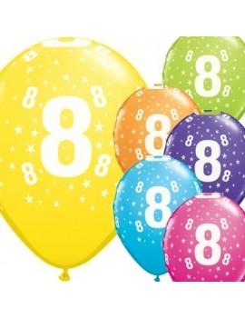 Palloncini Numero 8 Multicolor