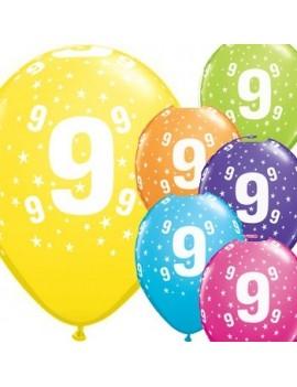 Palloncini Numero 9 Multicolor