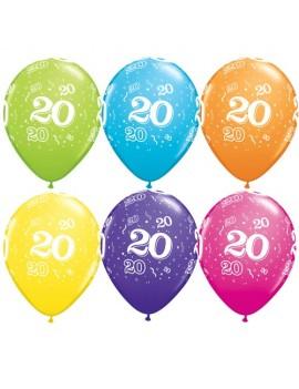 Palloncini Numero 20 Multicolor