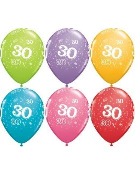 Palloncini Numero 30 Multicolor