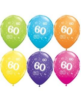 Palloncini Numero 60 Multicolor